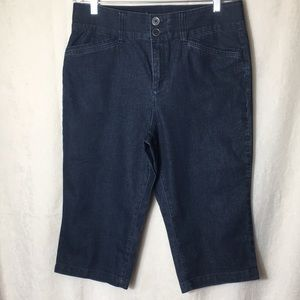 CHRISTOPHER & BANKS Blue Capri Pants Size 14P